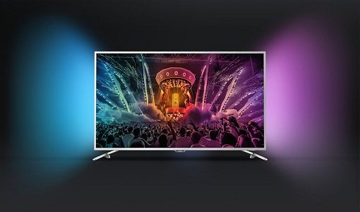 Televizor LED Smart Android Philips, 123 cm, 49PUS6501/12, 4K Ultra HD Vei fi incantat de dispersia culorilor chiar si in spatele televizorului Philips 49PUS6501/12 datorita functiei unice Ambilight.
