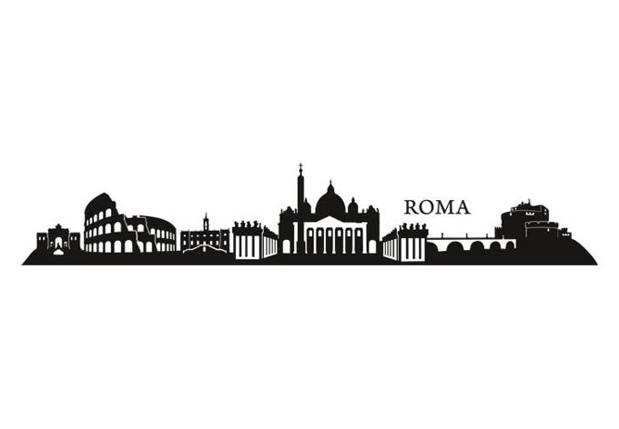 Rome Skyline Wall Sticker - decorative wall decal - Wall Stickers | Wall Art Shop | Decorating Ideas & Wall Decals