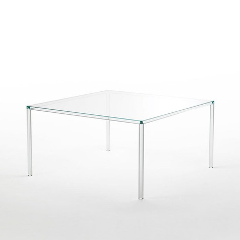 Transparent Glass Table Produced By Kartell   Tokujin Yoshioka