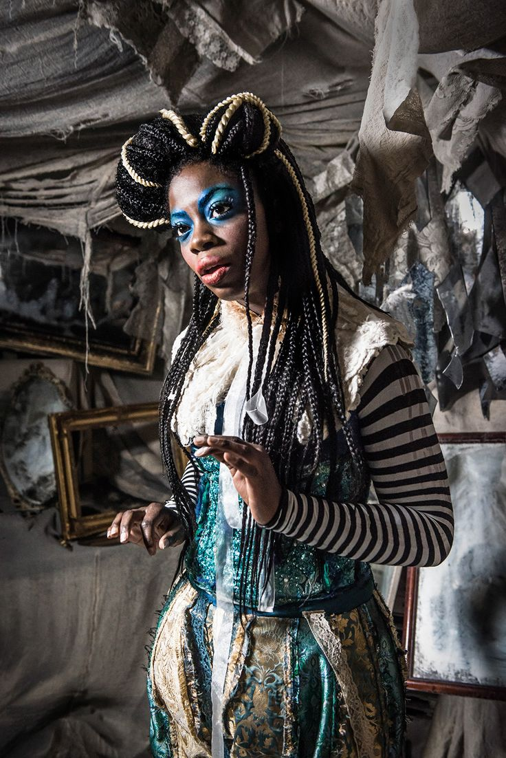 Alice in the mirror room,  from Alice's Adventures Underground, By Les Enfants Terribles,  Designed by Samuel Wyer.  An immersive theatre production in London of Alice Through the Looking Glass and Alice in Wonderland. Photograph by Rah Petherbridge