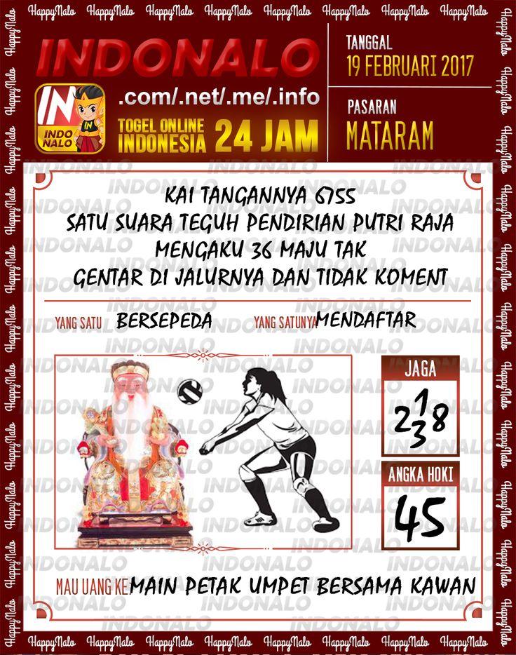 Taysen Hoki 3D Togel Wap Online Live Draw 4D Indonalo Mataram 19 Februari 2017