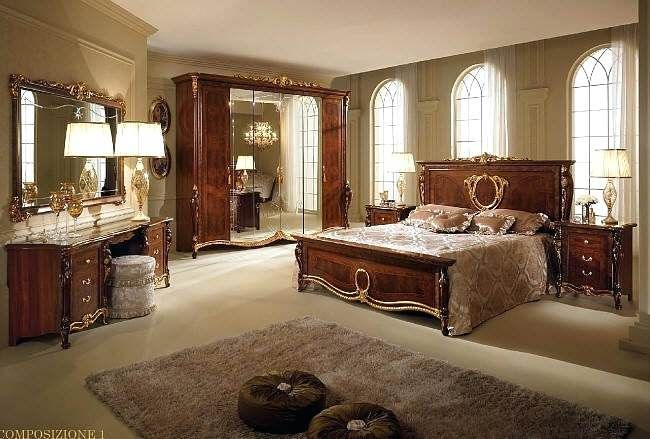 Gina White Italian Classic Bedroom Set Made In Italy White