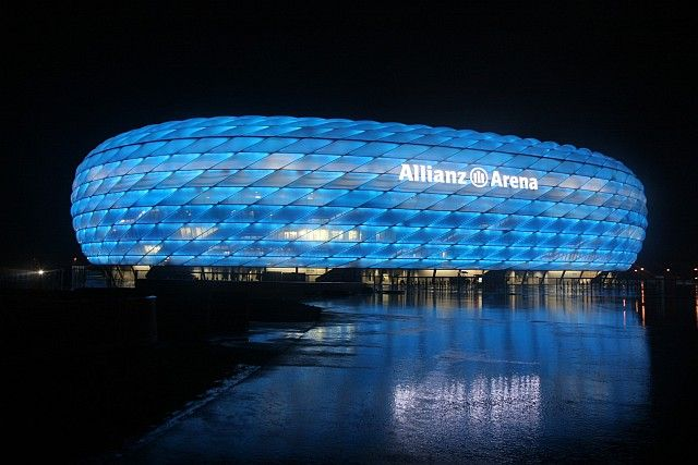 Allianz Arena, Munich - really cool.  I'd like to visit !