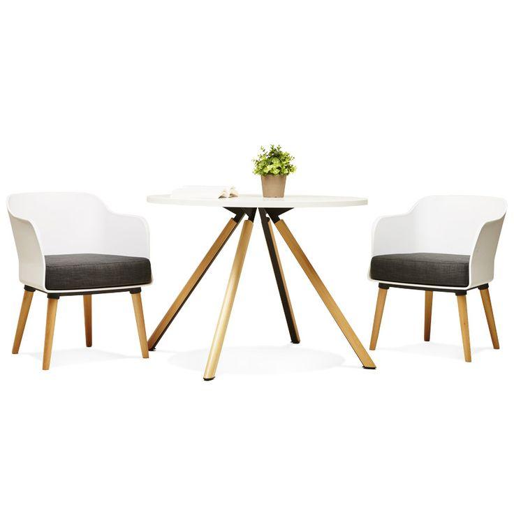 Chaise design scandinave frisk avec accoudoirs mobilier designdeco