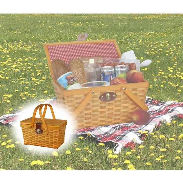 Cheap Picnic Baskets Romantic Simple Wicker For 2 Beach Traditional Gingham Red #CheapPicnicBaskets