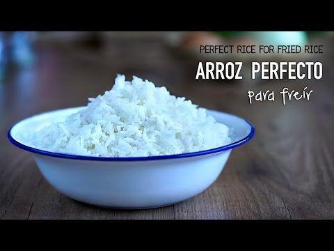 Como cocinar arroz perfecto para hacer arroz frito l Kwan Homsai - YouTube