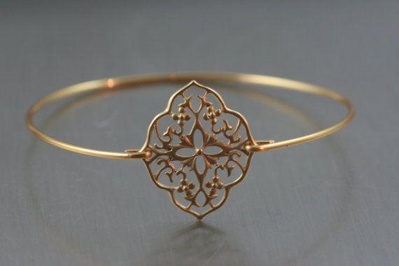 Boho Stil Gold-Messing-Armreif / / Gold Armband / …