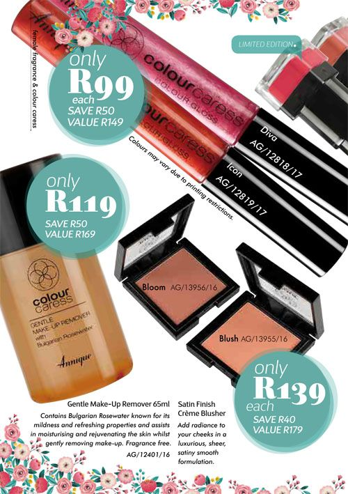 Annique Health and Beauty October 2017 Specials. Colour Caress on Sale.