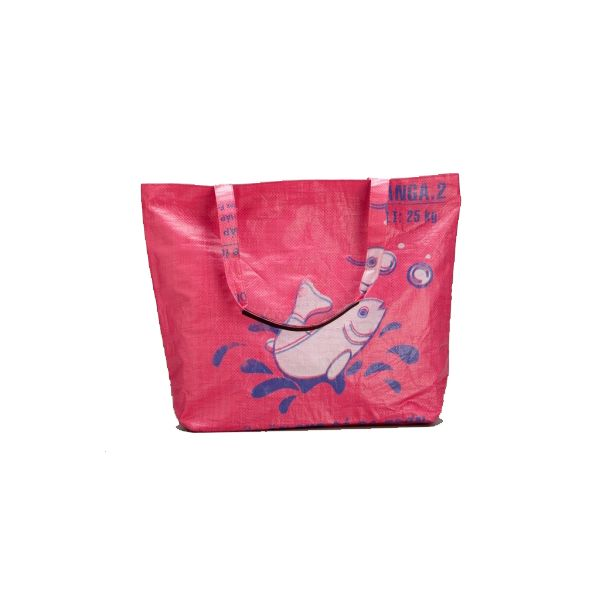 Torrain Large Tote - Fire Pink