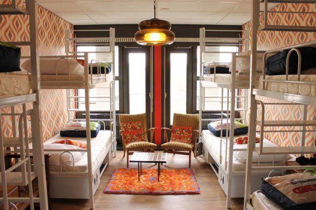 Retro room - 8 bed dorm at Hostelle (female hostel)