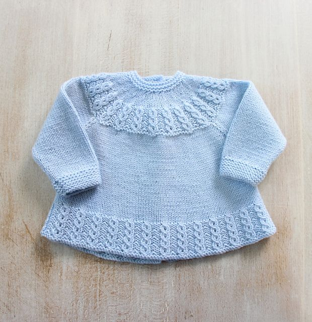 Nouveau ! En version française sur Ravelry ! Ravelry: 26 / Blue Baby Jacket pattern by Florence Merlin