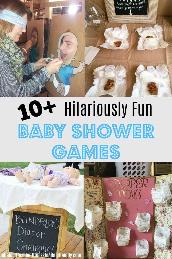 10+ FUN Baby Shower Spiele