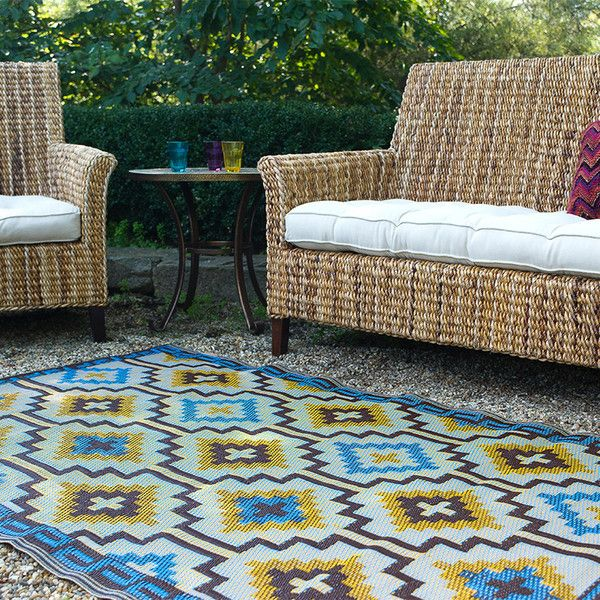 Wow we LOVE this outdoor rug, not just the pattern but the fact its enviro friendly - Woven from straws made up of recycled plastic Washable, just shake or hose off for easy cleaning Suitable for indoor and outdoor use! by stylemyhome.com.au ONLY $70
