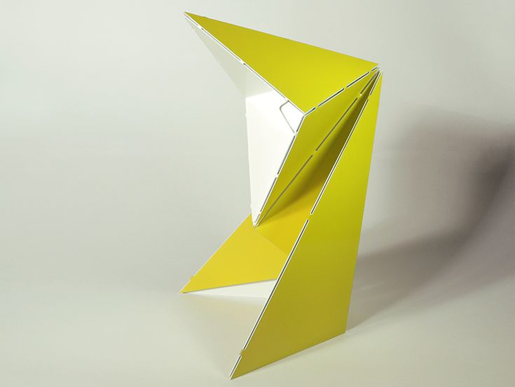 folded origami table lamp by mirco kirsch for belt + sund