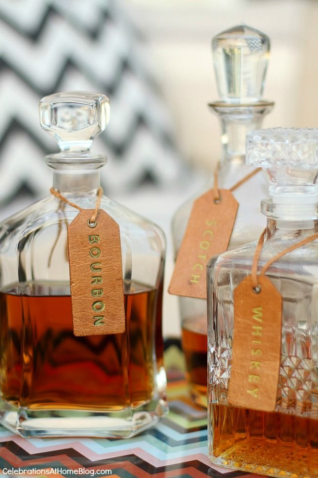 Host a guys night outside on the patio with these tips and ideas. Whiskey decanters.