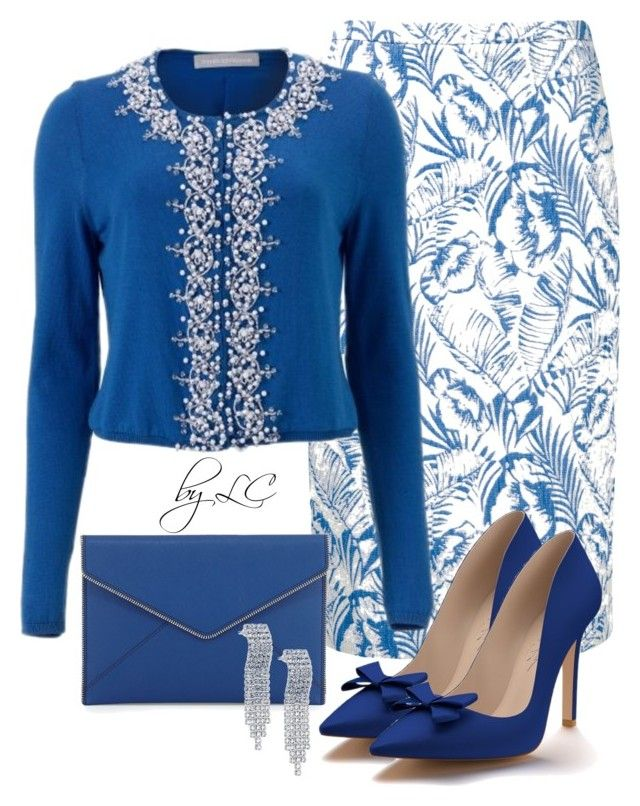 """blue elegance"" by explorer-14541556185 ❤ liked on Polyvore featuring Pure Collection, Rebecca Minkoff and Shoes of Prey"