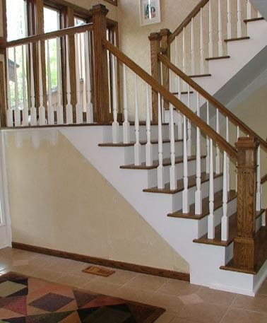 Two Newel Landing Staircases Wooden Staircases