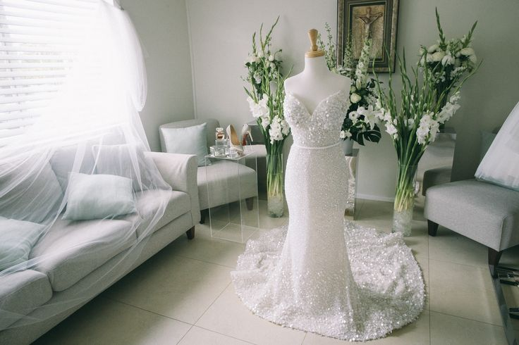 George Elsissa Wedding Gown for Samantha - Doltone House Darling Island Wedding