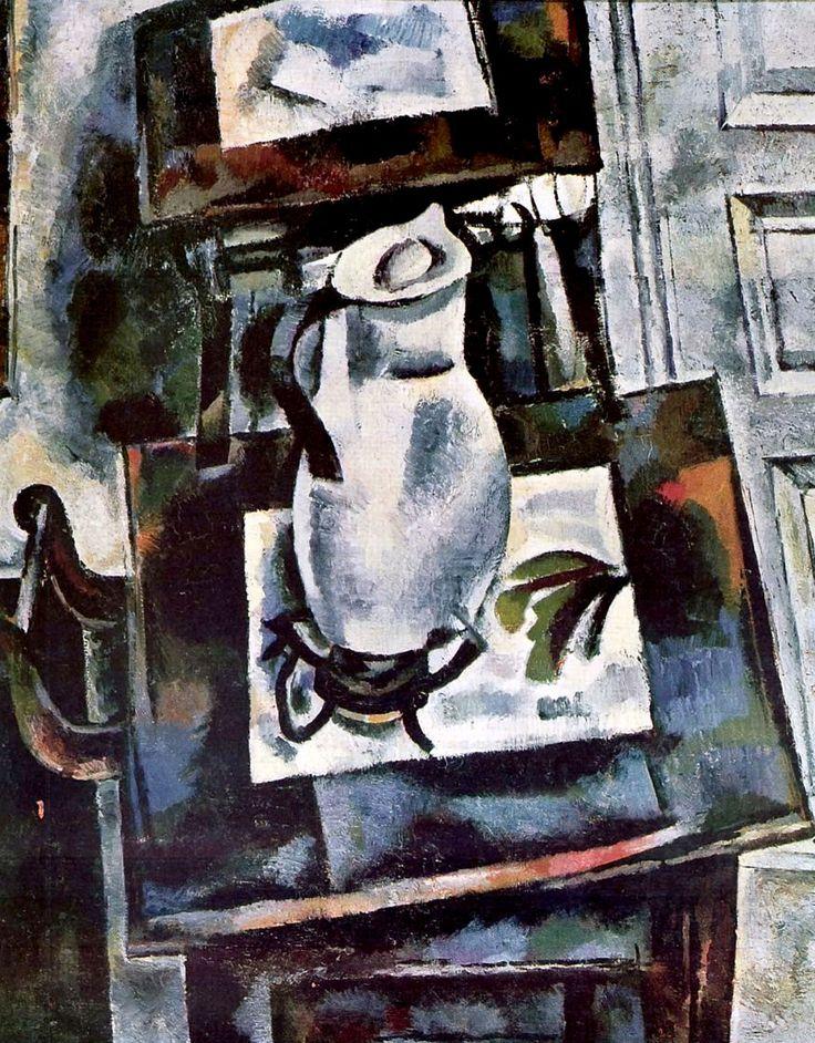 Иван Пуни. «Натюрморт с белым кувшином». 1910 г. Холст, масло. 89 x 71 см.