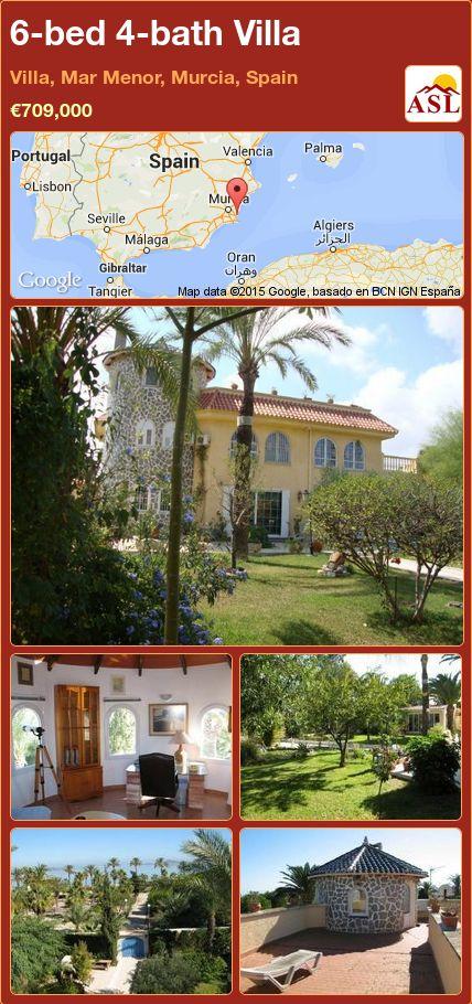 6-bed 4-bath Villa in Villa, Mar Menor, Murcia, Spain ►€709,000 #PropertyForSaleInSpain