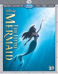 The Little Mermaid (Three-Disc Diamond Edition) (Blu-ray 3D / Blu-ray / DVD + Digital Copy + Music)   Movies HD DVD'S Plus   moviehddvds.com