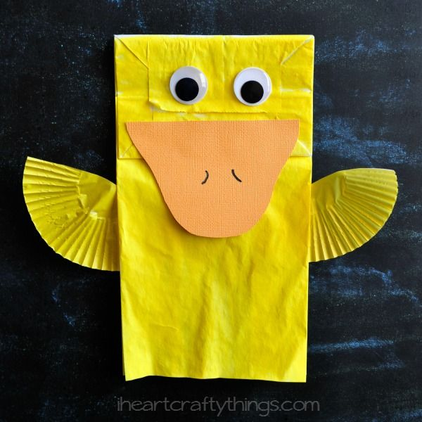 I HEART CRAFTY THINGS: Cute Paper Bag Duck Kids Craft
