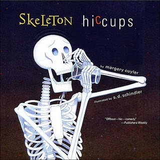 A skeleton can't get rid of his hiccups until he sees something really scary--his own reflection!