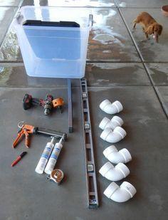 Materials assembled for DIY No-Waste Feeder