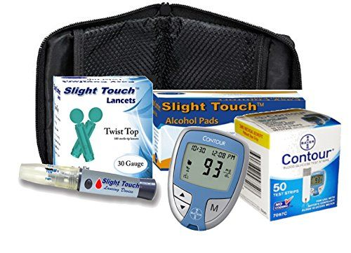 Diabetes Testing Kit - Bayer Contour Meter, 50 Contour Test Strips, 100 30g Lancets, Lancing Device,100 Alcohol Prep Pads >>> Be sure to check out this awesome product.
