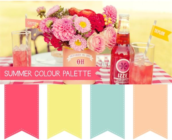 Summer wedding colour palettes weddings pinterest for Summer wedding color combinations