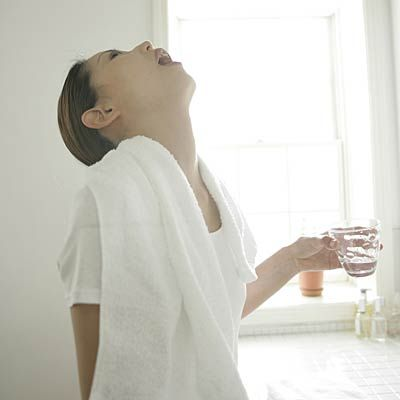 Saltwater gargle-  gargling several times a day with warm salt water can reduce swelling in the throat and loosen mucus, helping to flush out irritants or bacteria.  Sore Throat Remedies  http://www.sorethroatremediess.com/