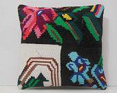 18x18 floor pillows DECOLIC aztec pillows floral luxury rugs flowers tappeti kilim throw pillow black antique rugs 13677 kilim pillows 45x45