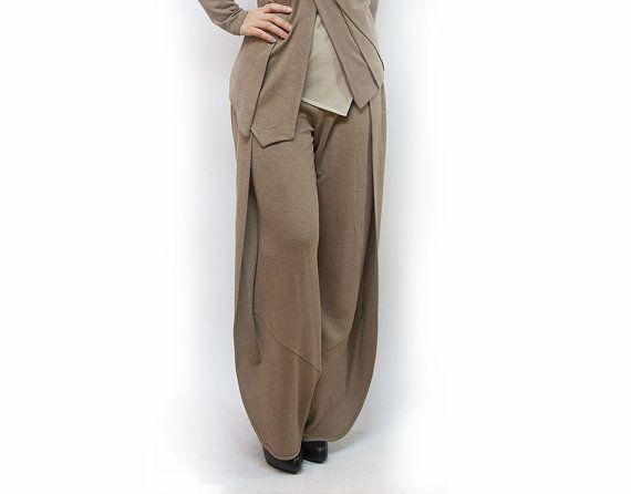 pantswomen pantsclassic pantsbeige pantsjersey by AnnaPerena, $75.00