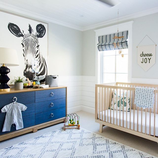 Because the large zebra and shiplap wainscoting are a welcome break from the debate.💙 #yourewelcome {you can see the full tour with links on our blog today} #windsongproject 📷:@kateosborne