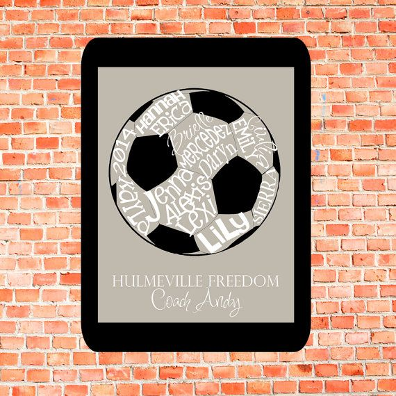 ELECTRONIC COPY Soccer Ball... Typography by lesleygracedesigns