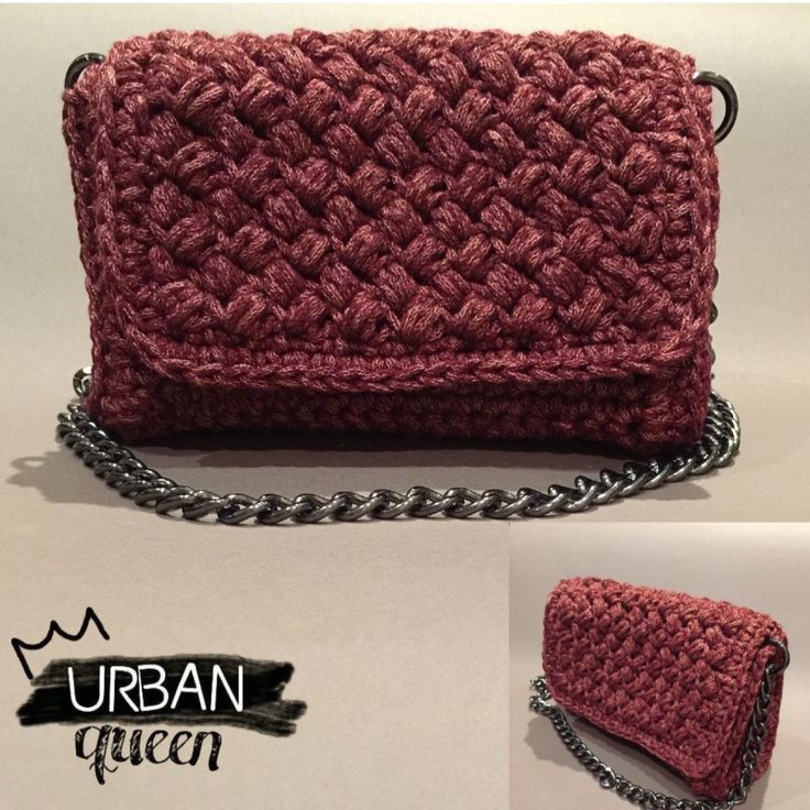 Handmade crochet flap bag by Urban Queen