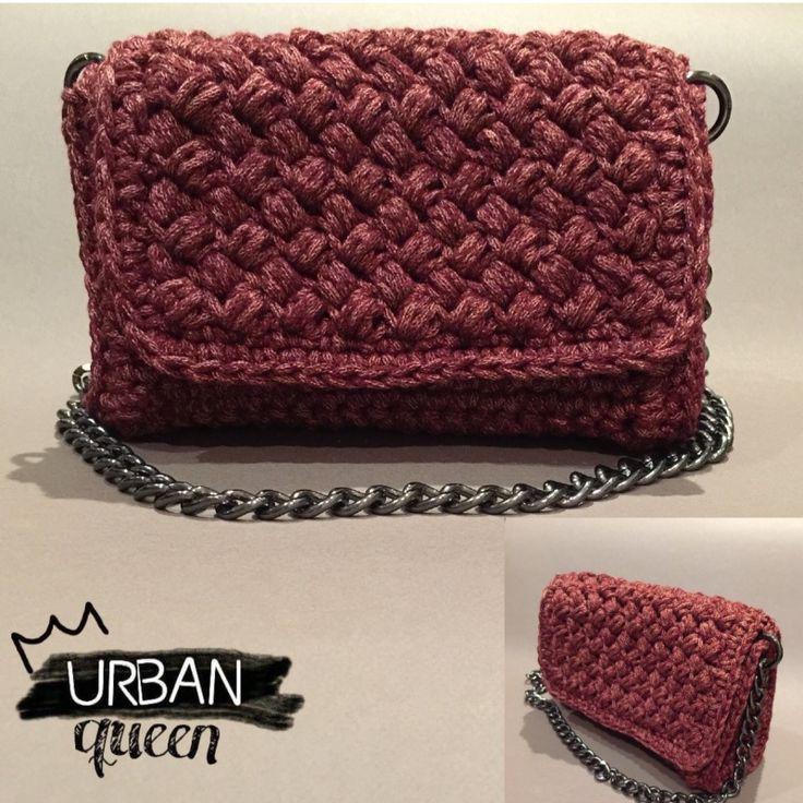 Handmade crochet flap bag by Urban Queen