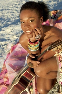 "India.Arie!  Her ""honesty of artistry is engaging""!"