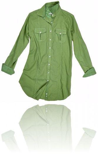Camicia lunga color verde, ideale per i leggins ^_^ Seguici su #RedisRappresentanze www.redisrappresentanze.it