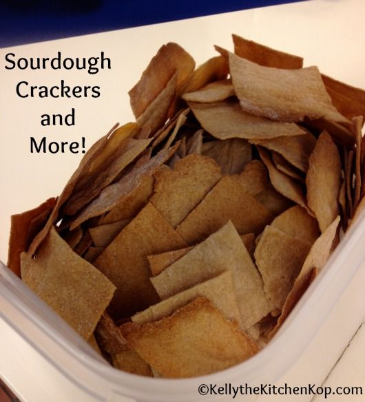A jackpot of sourdough recipes: waffles, pancakes, pizza crust, crackers, and English muffins!