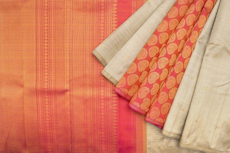 Kanakavalli Handwoven Kanjivaram Silk Sari 1015910 - Saris / All Saris - Parisera