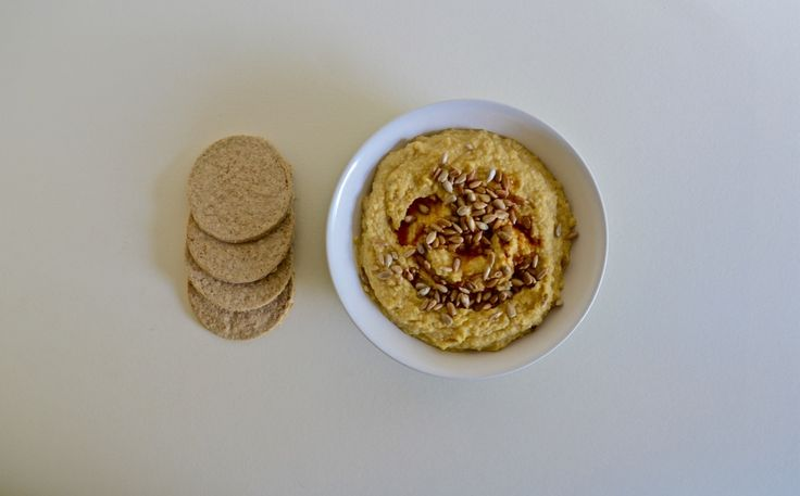 Hummus with Paprika Sunflower Seeds