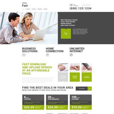 Fast Internet Provider Bootstrap WordPress Theme