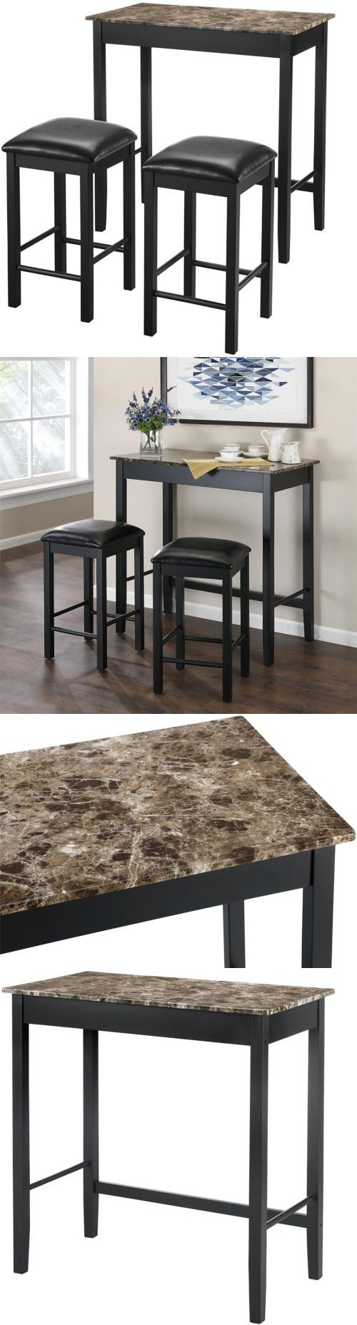 Home Pubs and Bars 115713: Dorel Living 3-Piece Devyn Faux Marble Pub Dining Set -> BUY IT NOW ONLY: $112.74 on eBay!