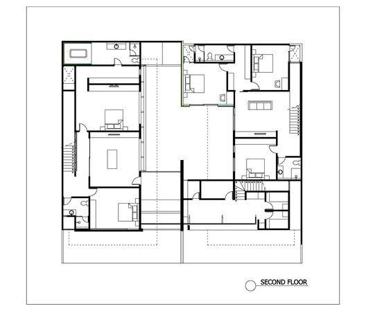 2628 Sister House,Second Floor Plan