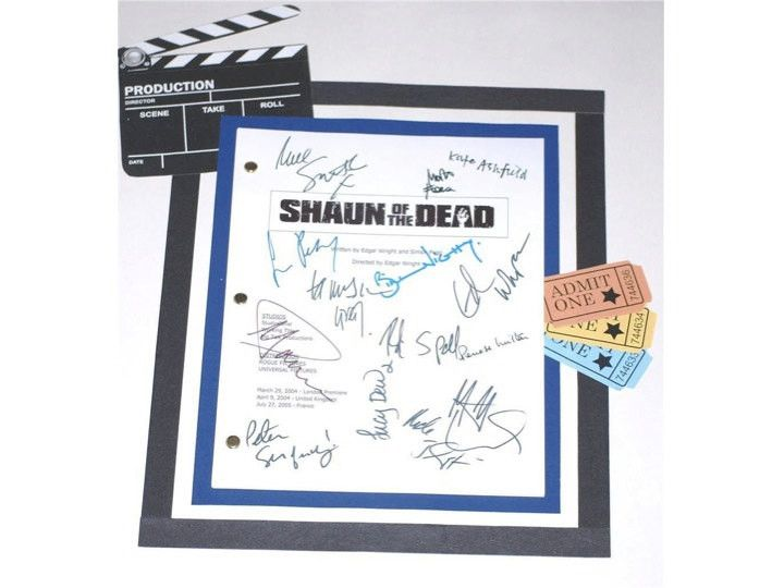 Shaun of the Dead Movie Script Signed Screenplay Autographed: Edgar Wright, Simon Pegg, Nick Frost, Kate Ashfield, Lucy Davis & More
