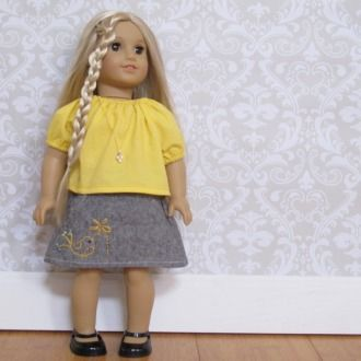 The Potato Chip Skirt and Top Set for 18 inch Doll | Sewing Pattern | YouCanMakeThis.com