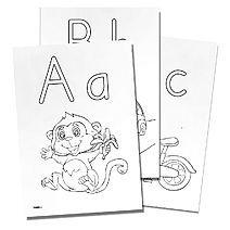 Färglägg alfabetet
