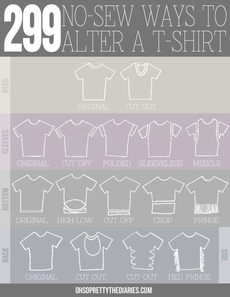 299 no-sew ways to alter a t-shirt from ohsoprettythediaries.com