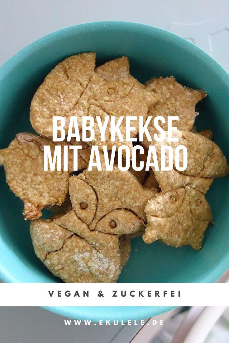 Rezept für vegane, zuckerfreie Babykekse mit Avocado. Baby Led Entwöhnung, Breibre …  – Baby Ernährung